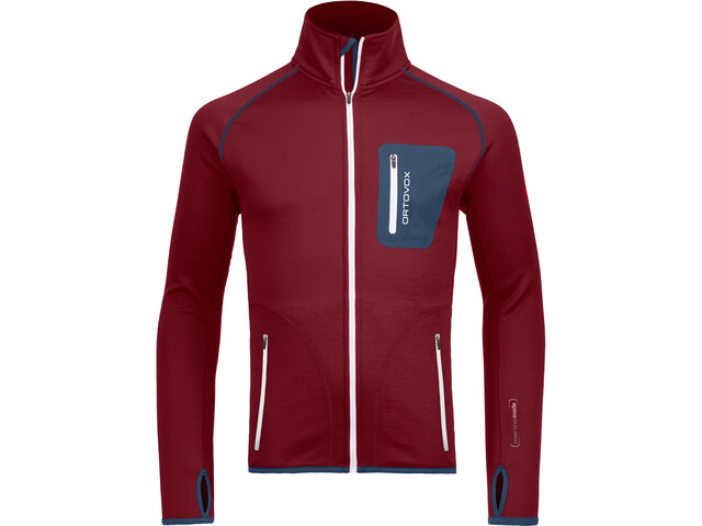 Ortovox Fleece Jacket Herre dark blood